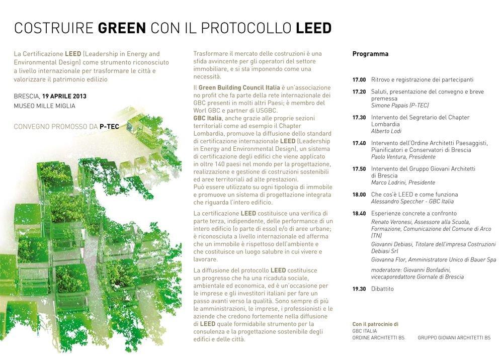 Convegno costruire LEED con il Protocollo LEED - Aprile 2013